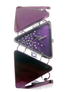 Purple triangle shaped watch - Lincoln Centre