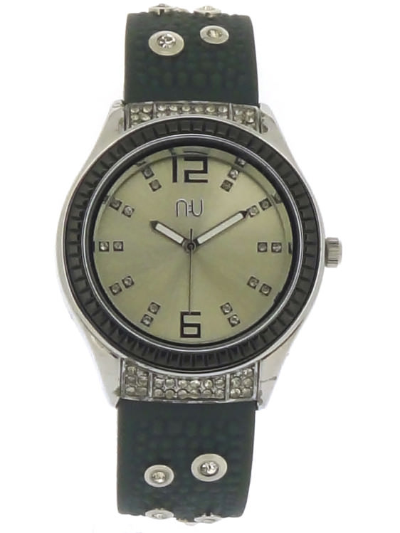 Grey diamante watch - Whitehall