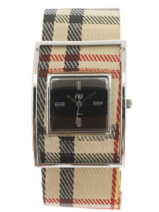Classic & silver checkered watch - Times Square