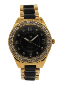 Black sporty gold watch - Canal