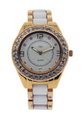 White sporty gold watch - Canal