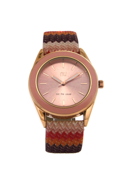 Pink chevron watch - Allerton