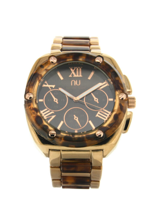 Brown turtle shell watch - Hoyt