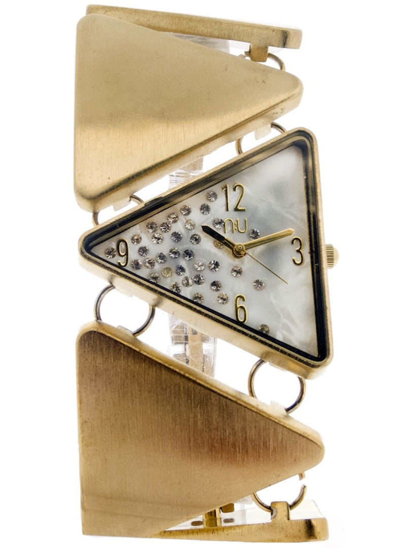 Gold triangle shaped watch - Lincoln Centre