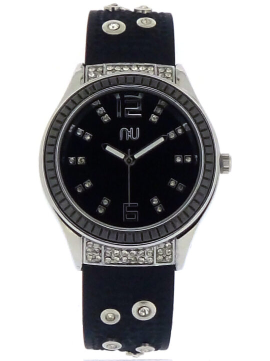 Black diamante watch - Whitehall
