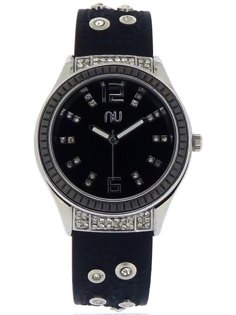 Black diamante watch - Whitehall