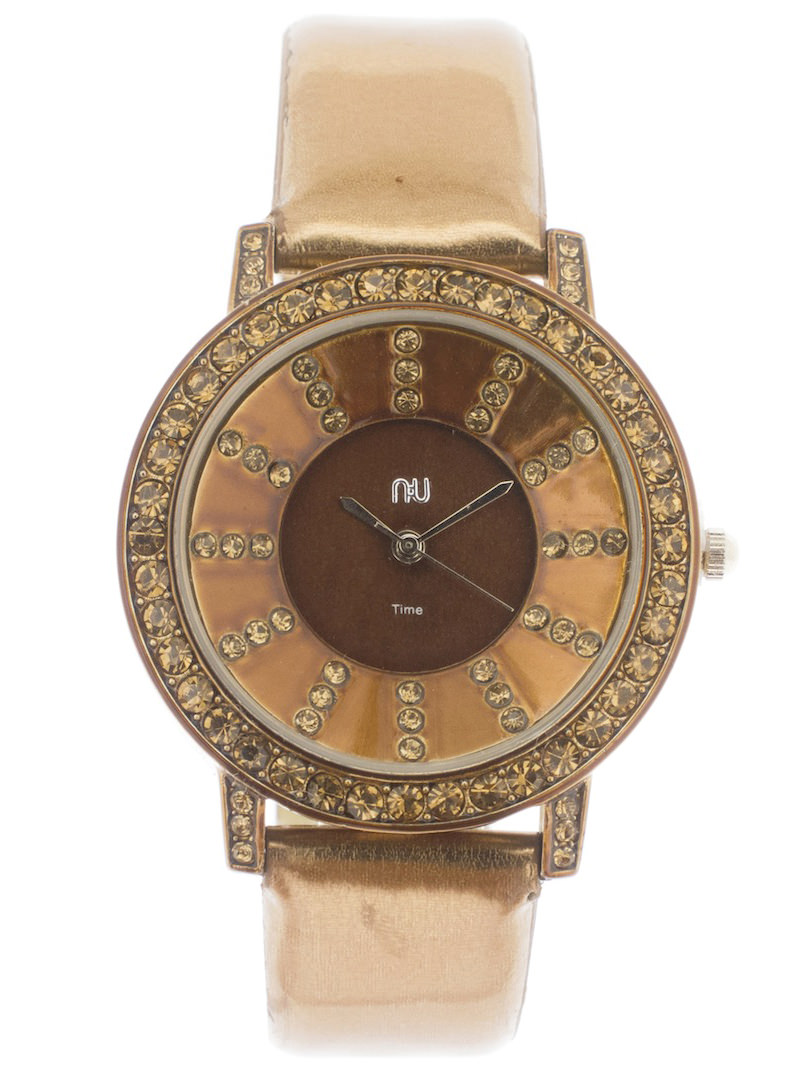 Copper shiny watch - City