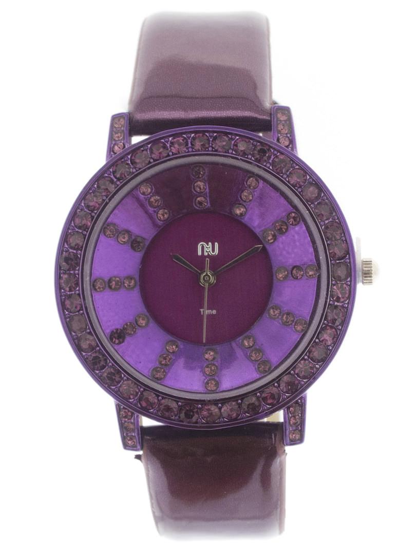 Purple shiny watch - City