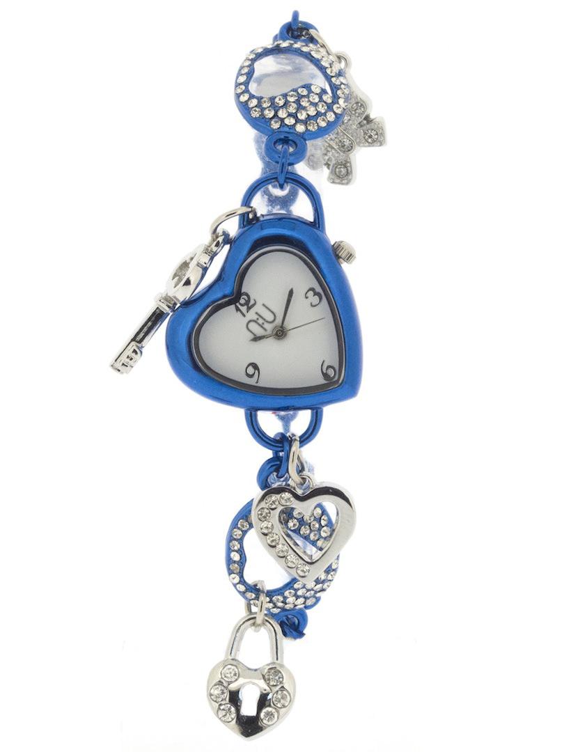 Blue heart-shaped watch - Penn Station