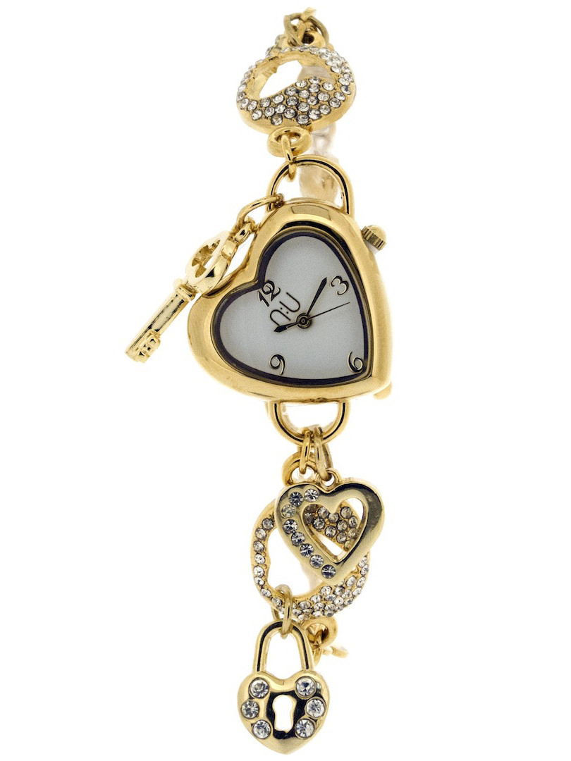 Gold heart-shaped watch - Penn Station
