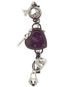 Purple heart-shaped watch - Penn Station