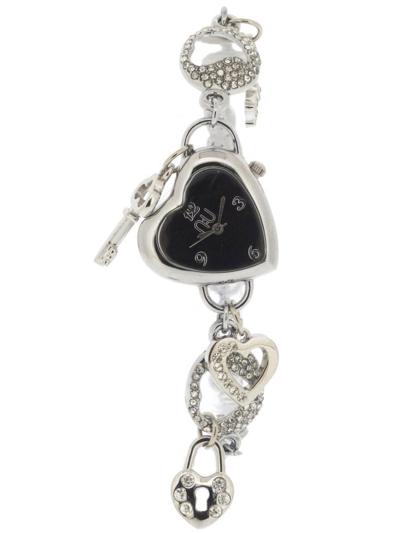 Silver heart-shaped watch - Penn Station