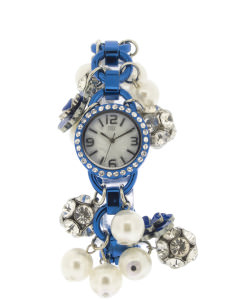 Blue charm bracelet watch - Chambers