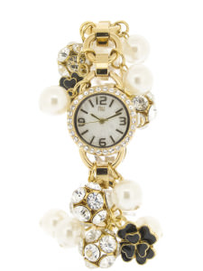 Gold charm bracelet watch - Chambers