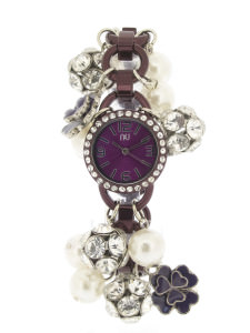 Purple charm bracelet watch - Chambers