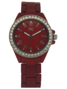 Red ladies watch - Columbus Circle