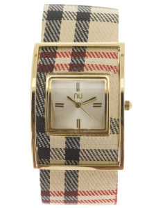 Classic & gold checkered watch - Times Square