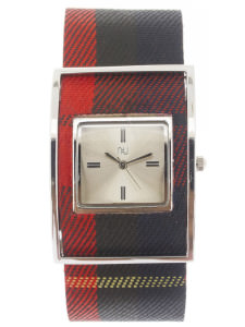 Red & silver checkered watch - Times Square
