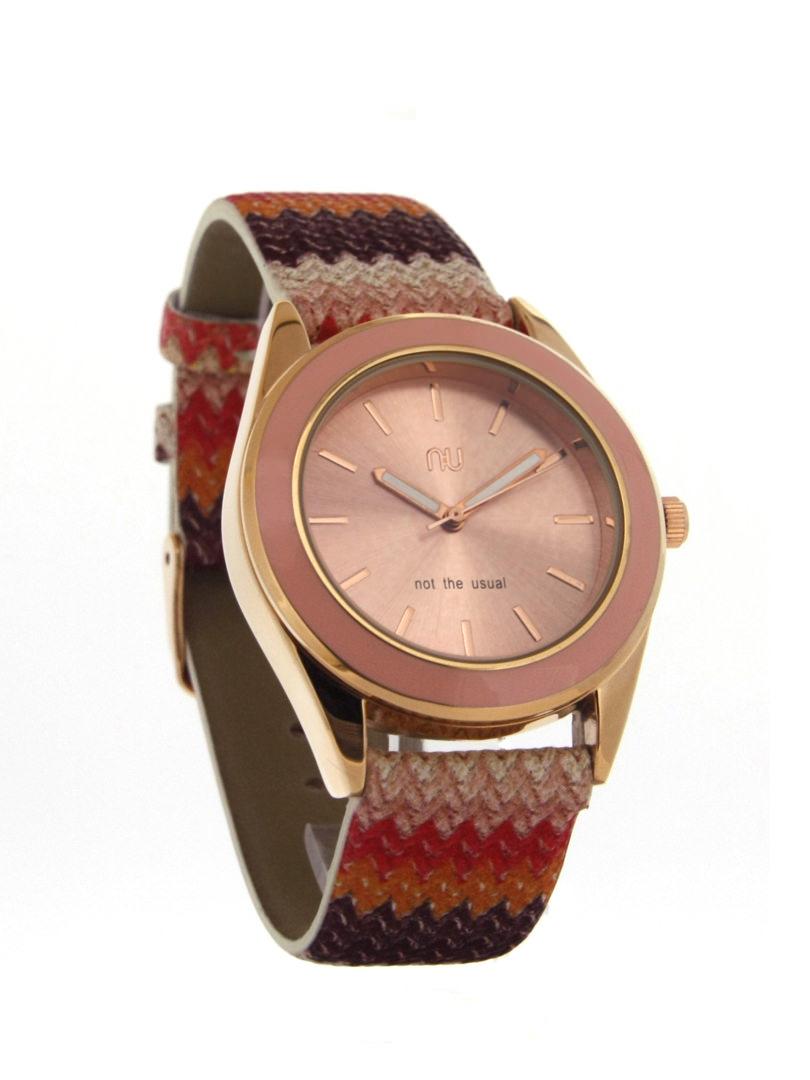 Pink chevron watch - Allerton