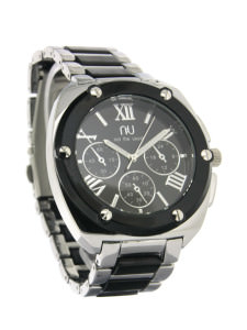 Black turtle shell watch - Hoyt