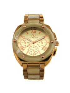 Beige turtle shell watch - Hoyt