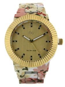 Beige floral watch