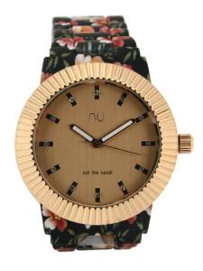 Black floral watch
