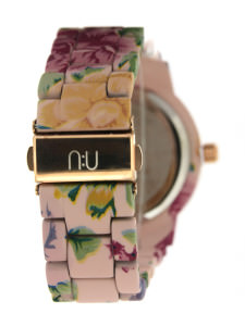 Purple floral watch
